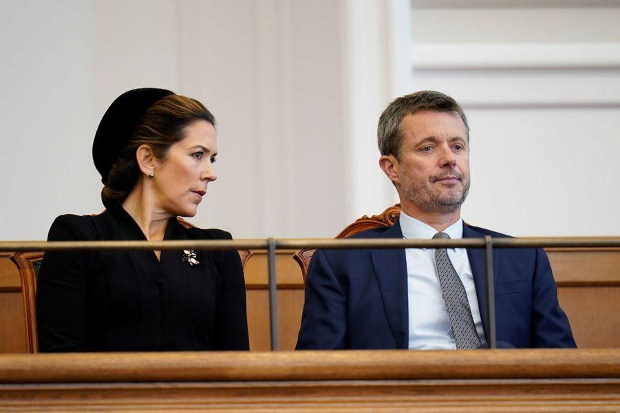 La princesse Mary et le prince Frederik de Danemark à Copenhague, le 6 octobre 2020