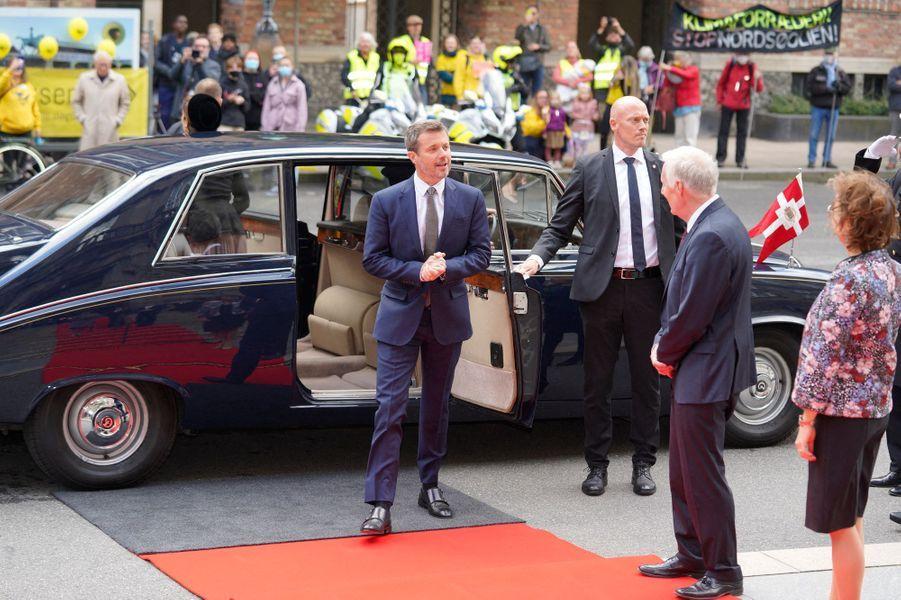 Le prince Frederik de Danemark à Copenhague, le 6 octobre 2020