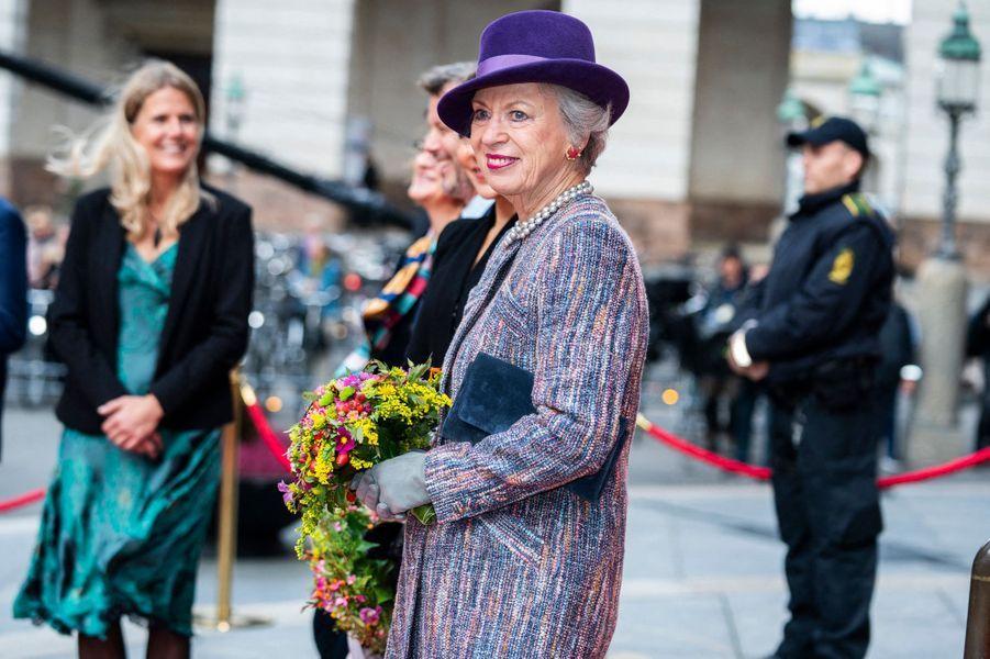 La princesse Benedikte de Danemark à Copenhague, le 6 octobre 2020