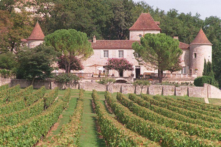 Le domaine viticole du château de Cayx du prince Henrik et de la reine Margrethe II de Danemark, le 17 septembre 1997