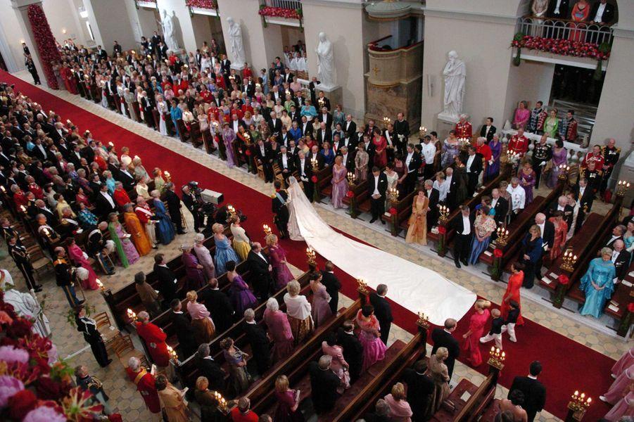 Au mariage du prince Frederik de Danemark et de Mary Donaldson à Copenhague, le 14 mai 2004