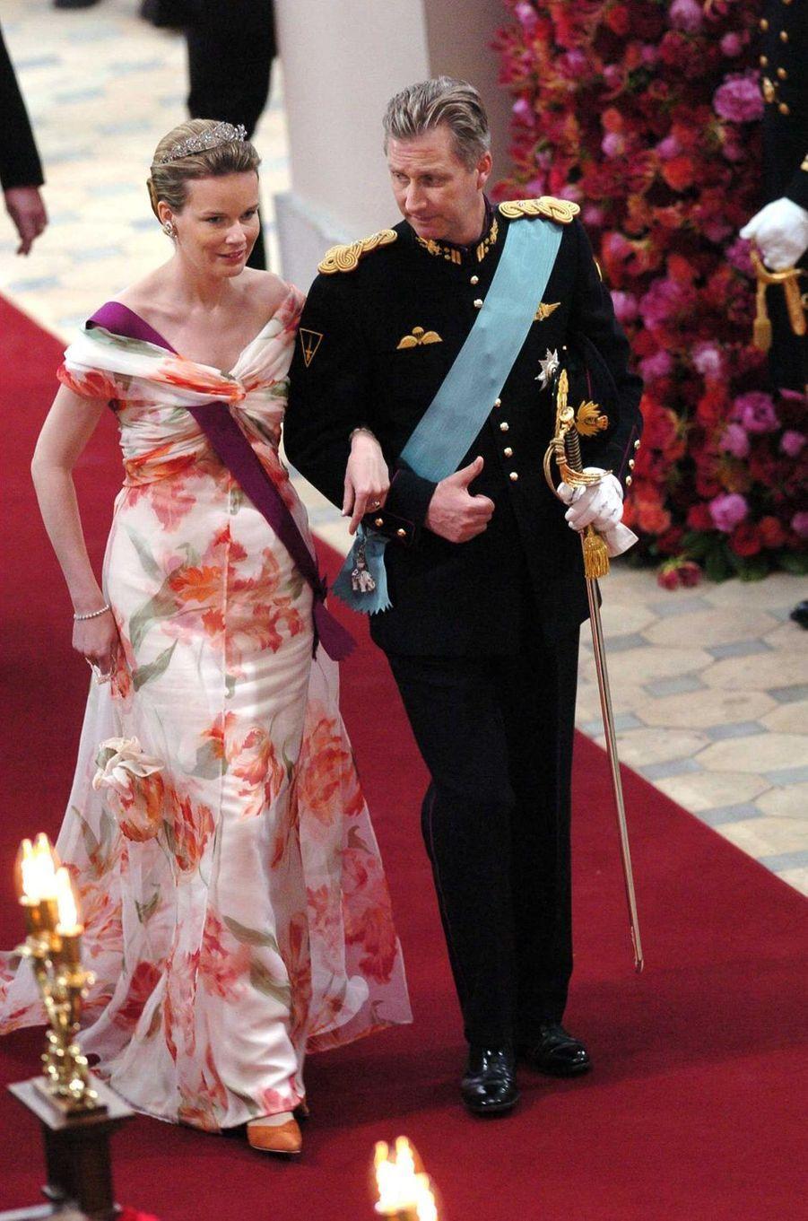 La princesse Mathilde et le prince Philippe de Belgique à Copenhague, le 14 mai 2004