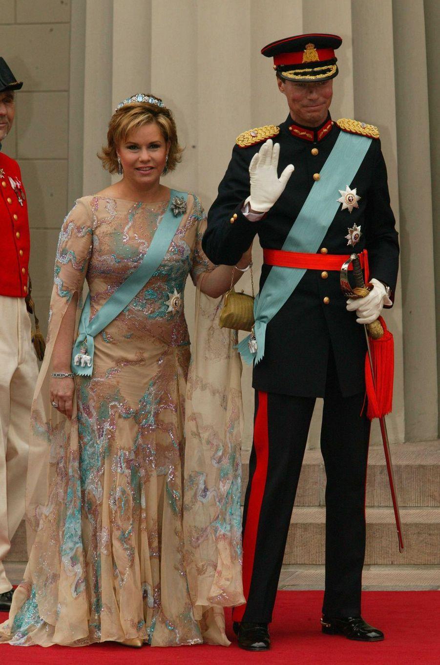 La grande-duchesse Maria Teresa et le grand-duc Henri de Luxembourg à Copenhague, le 14 mai 2004