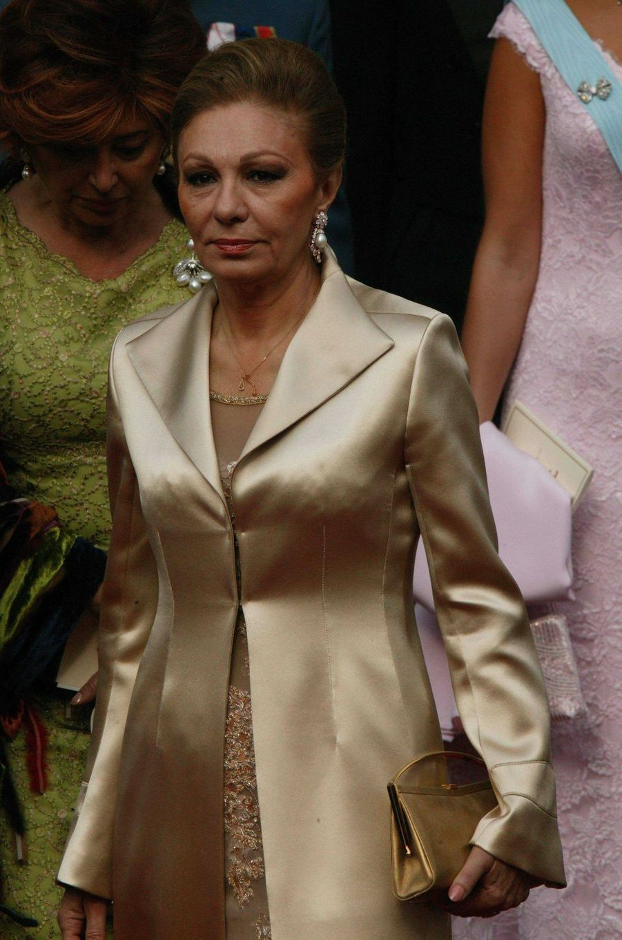 L'ancienne impératrice d'Iran Farah Diba à Copenhague, le 14 mai 2004