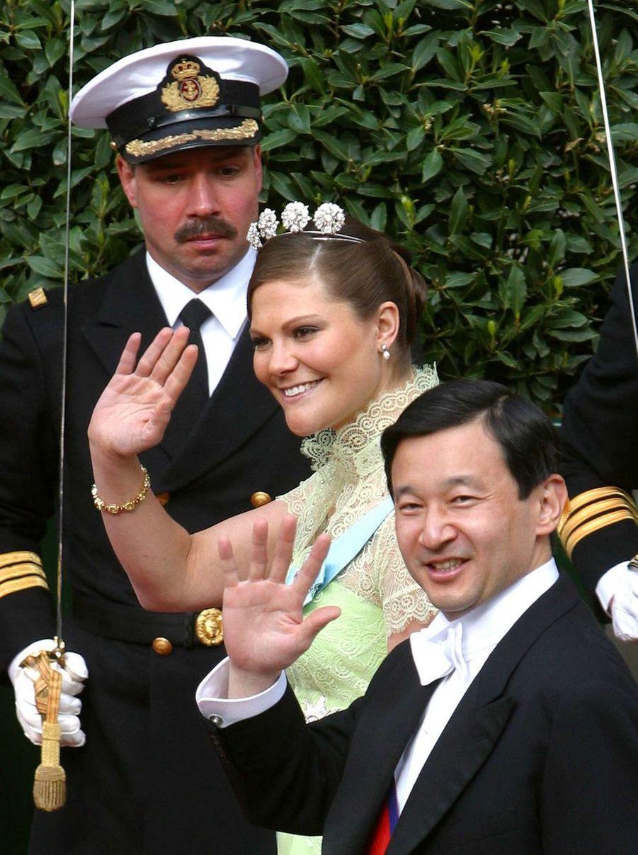 La princesse Victoria de Suède et le prince Naruhito du Japon à Copenhague, le 14 mai 2004
