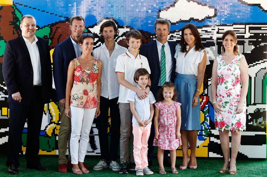 La famille royale du Danemark à Rio de Janeiro, le 2 août 2016