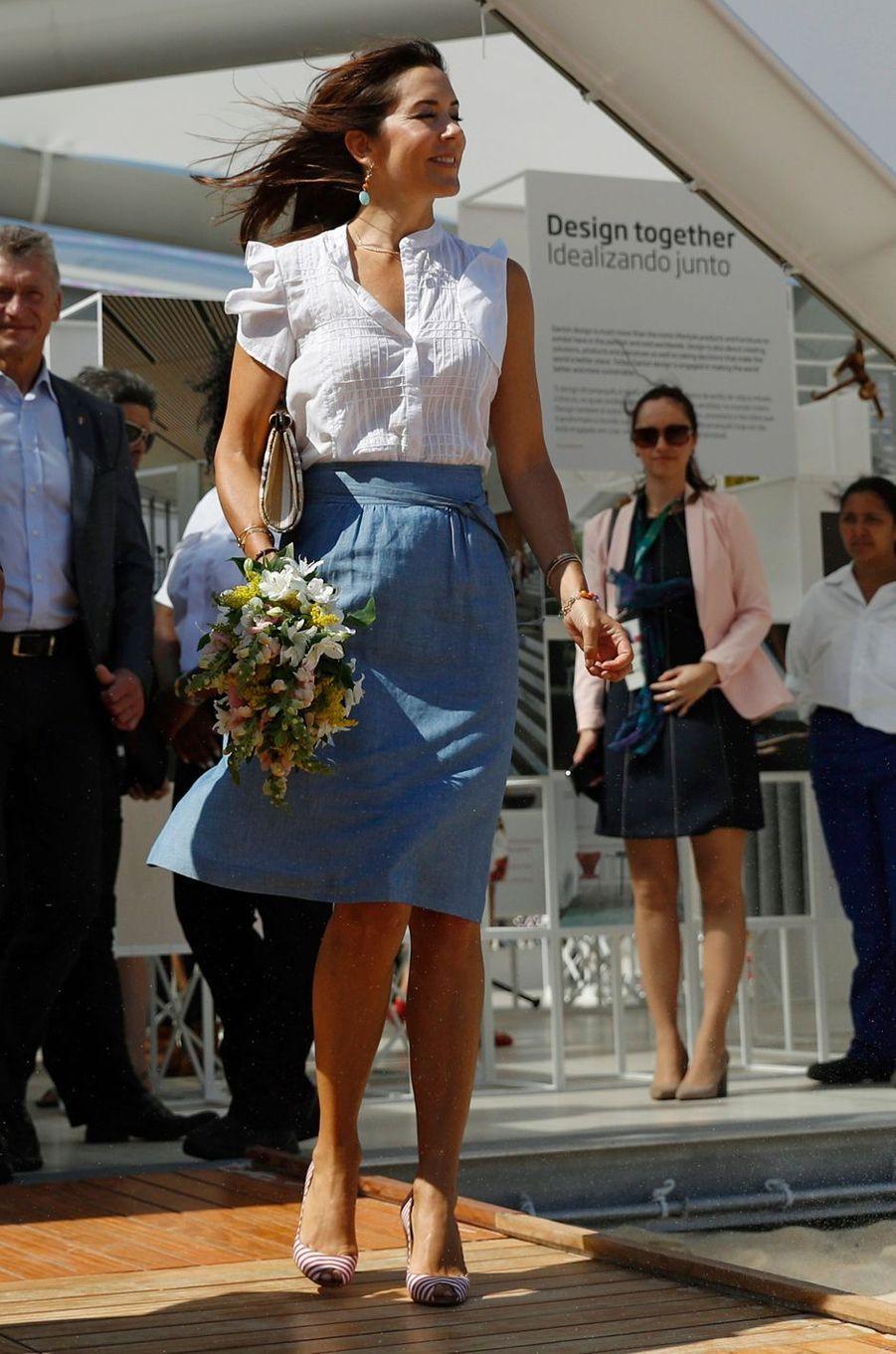 La princesse Mary du Danemark à Rio de Janeiro, le 2 août 2016