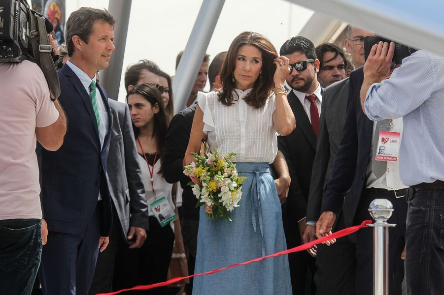 La princesse Mary et le prince Frederik du Danemark à Rio de Janeiro, le 2 août 2016