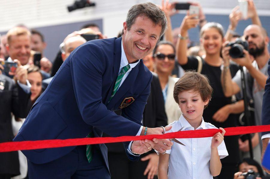 Les princes Frederik et Henrik du Danemark à Rio de Janeiro, le 2 août 2016
