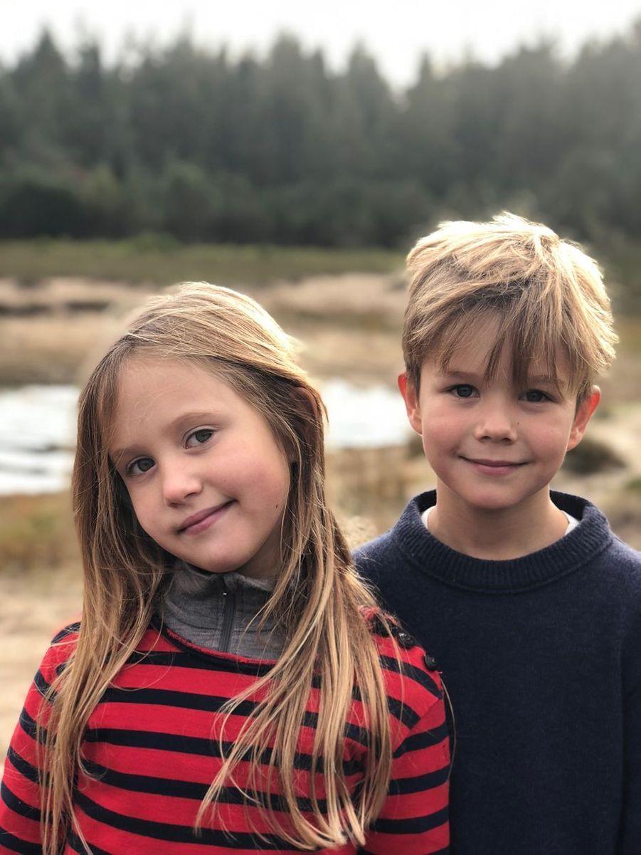 Portrait de la princesse Josephine et du prince Vincent de Danemark diffusé pour leurs 8 ans, le 8 janvier 2019
