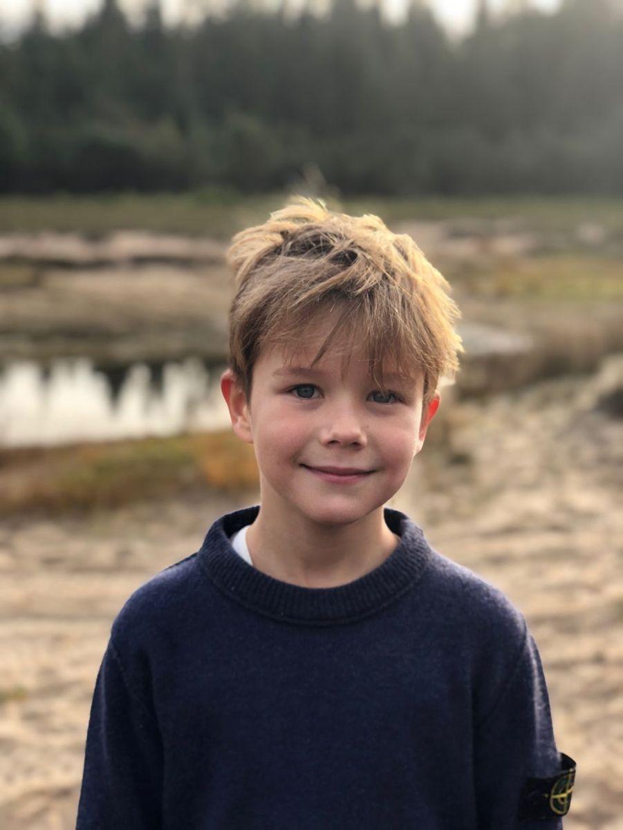 Portrait du prince Vincent de Danemark diffusé pour ses 8 ans, le 8 janvier 2019