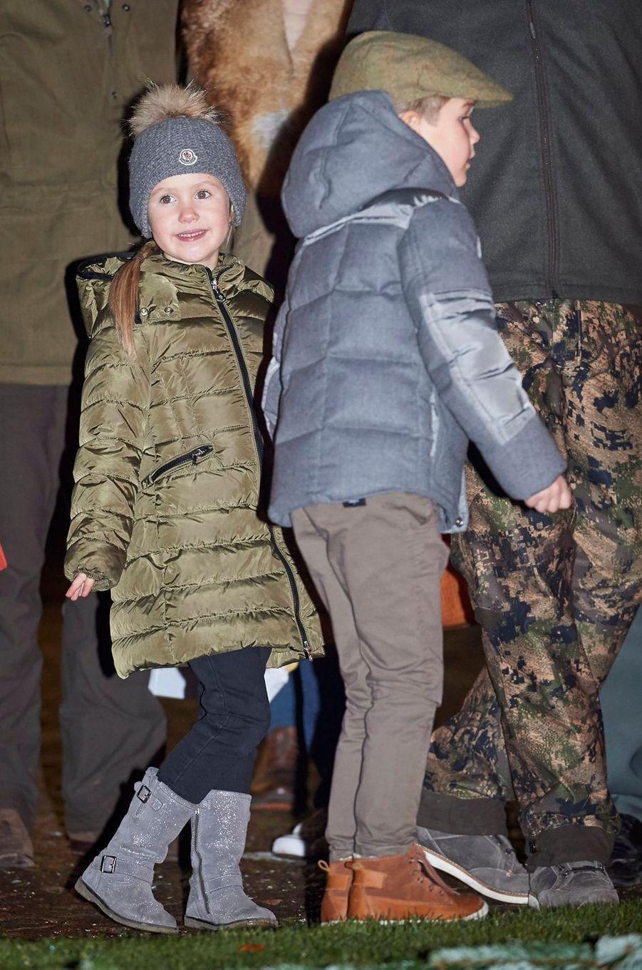 La princesse Joséphine et le prince Vincent de Danemark à Fredensborg, le 22 novembre 2016