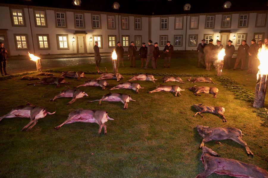 Tableau de la chasse royale à Fredensborg, le 22 novembre 2016