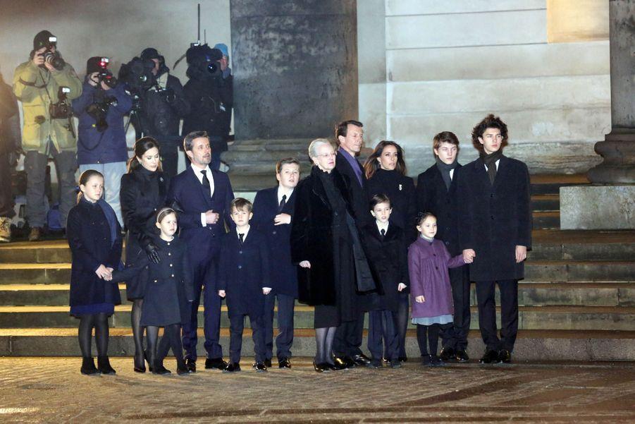 La famille royale danoise à Copenhague, le 16 février 2018