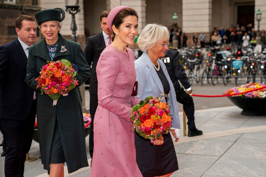 Les princesses Benedikte et Mary de Danemark, à Copenhague le 1er octobre 2019