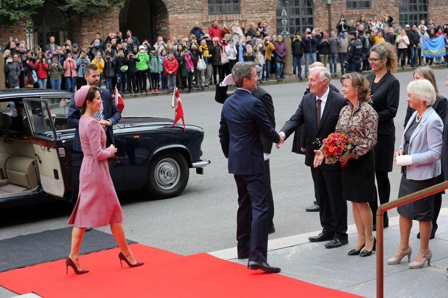 La princesse Mary et le prince Frederik de Danemark à Copenhague, le 1er octobre 2019