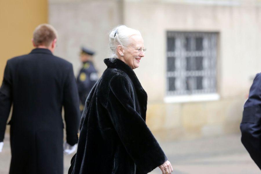 La reine Margrethe II de Danemark à Copenhague, le 17 février 2018.