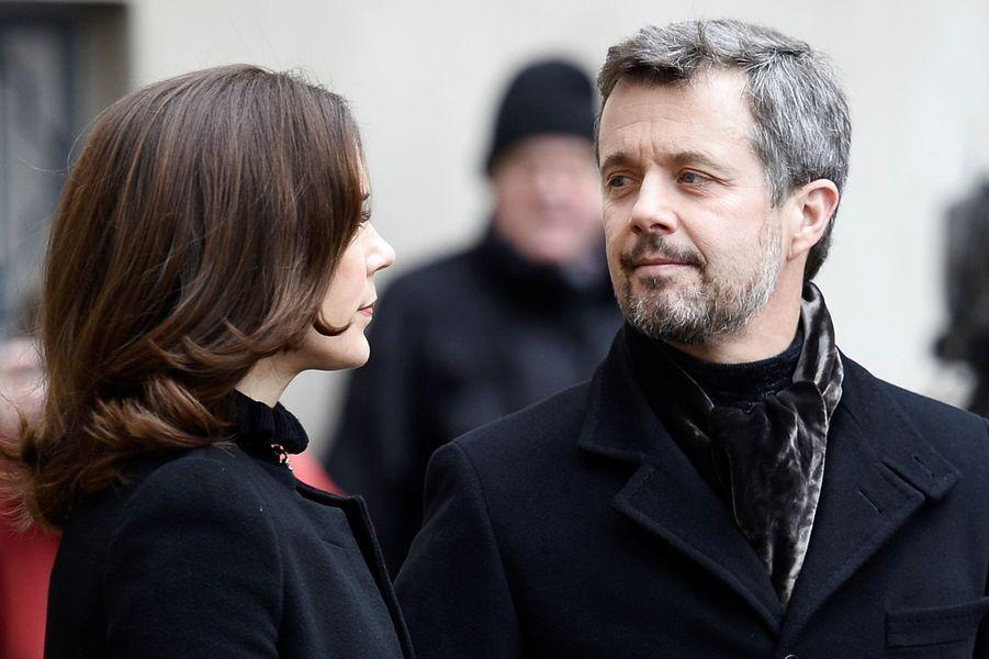 La princesse Mary et le prince Frederik de Danemark à Copenhague, le 17 février 2018.