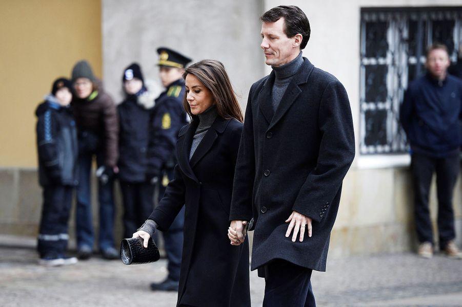 La princesse Marie et le prince Joachim de Danemark, à Copenhague le 17 février 2018