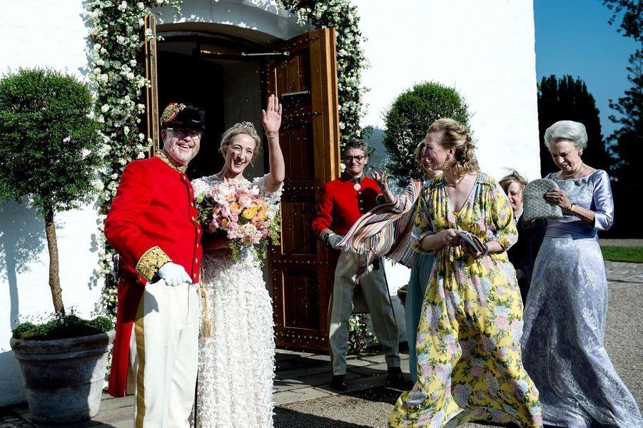 Mariage de la princesse Alexandra von Sayn-Wittgenstein-Berleburg et du comte Michael Ahlefeldt-Laurvig-Bille à Svendborg le 18 mai 2019