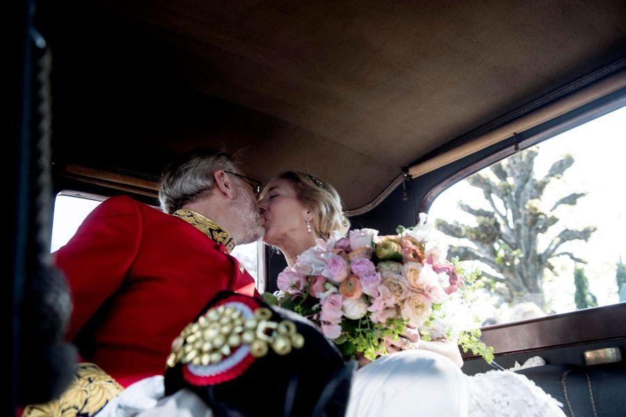 La princesse Alexandra von Sayn-Wittgenstein-Berleburg et le comte Michael Ahlefeldt-Laurvig-Bille à Svendborg, le 18 mai 2019