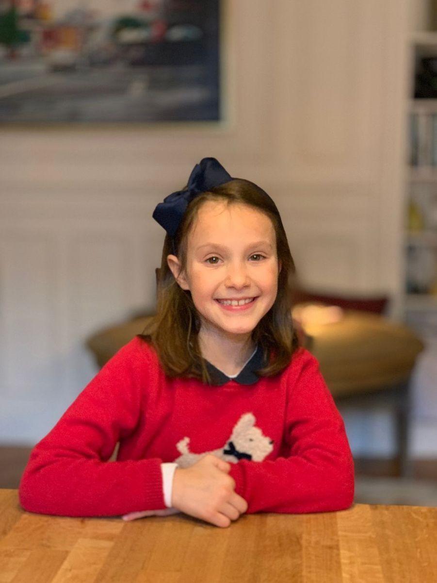 La princesse Athena de Danemark. Photo dévoilée pour ses 8 ans, le 24 janvier 2020
