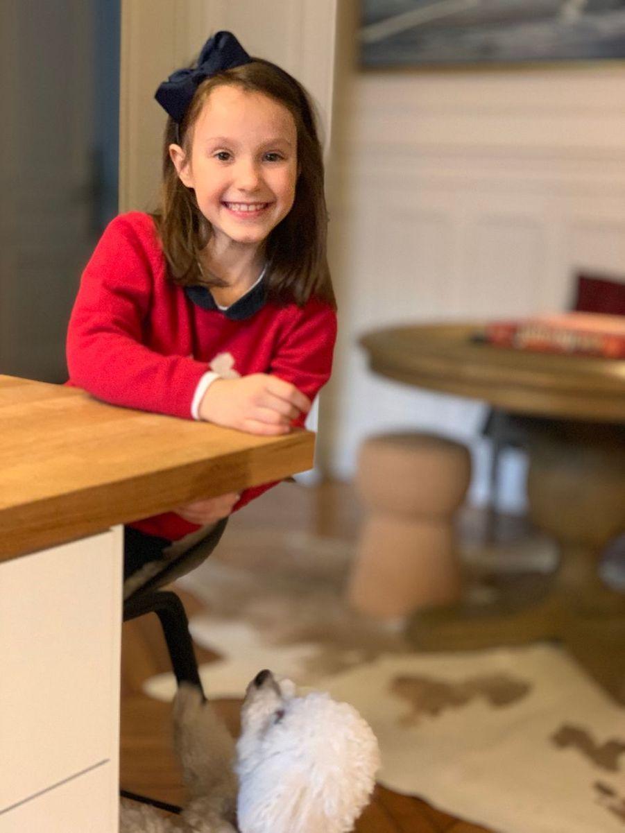 La princesse Athena de Danemark et Cerise. Photo dévoilée pour son 8e anniversaire, le 24 janvier 2020