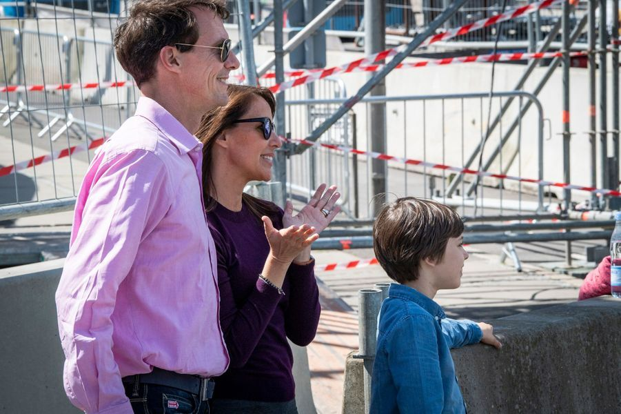 La princesse Marie et le prince Joachim de Danemark avec leur fils le prince Henrik à Aarhus, le 16 mai 2019