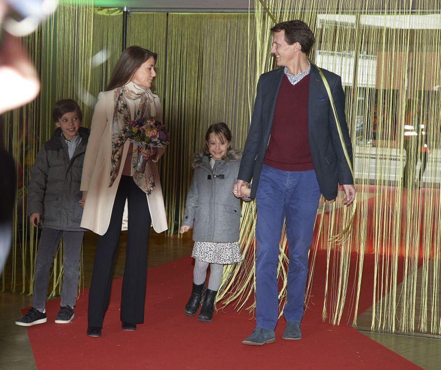 La princesse Marie et le prince Joachim de Danemark avec la princesse Athena et le prince Henrik à Copenhague, le 3 février 2019