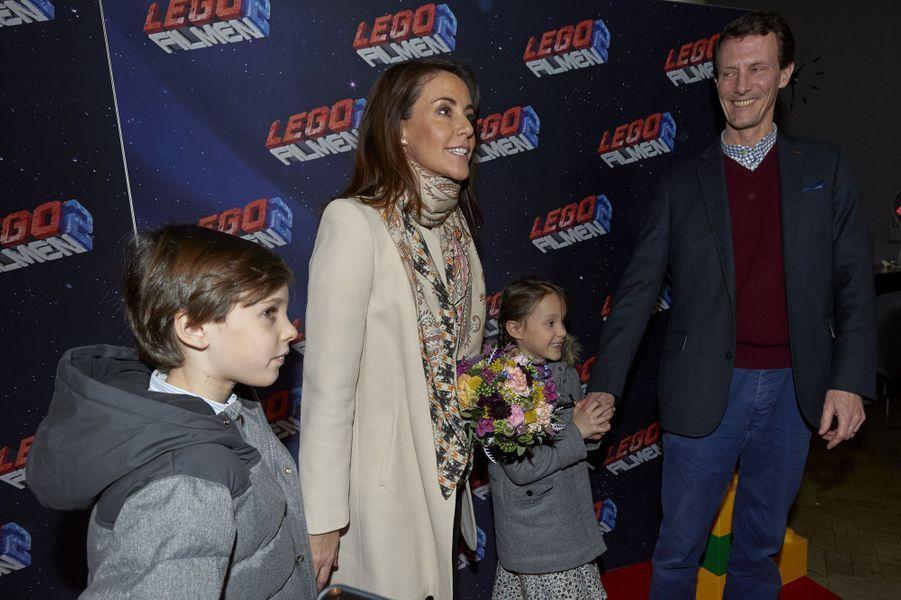 Les princesses Marie et Athena et les princes Joachim et Henrik de Danemark à Copenhague, le 3février 2019