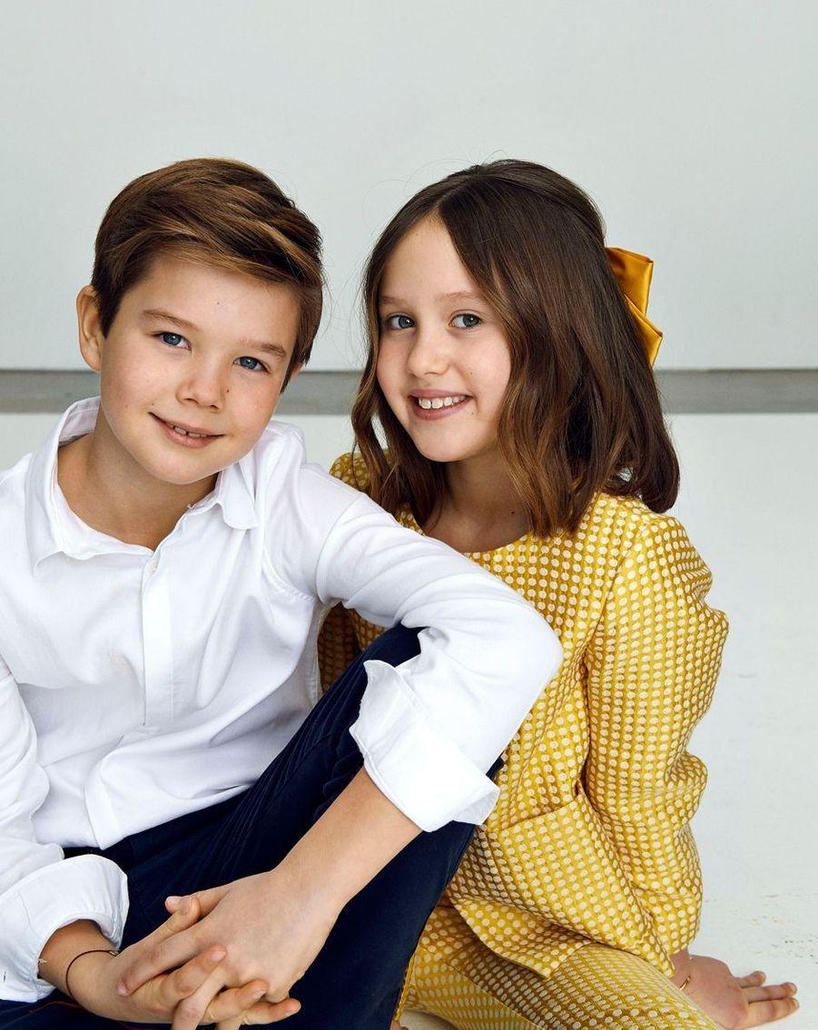 Le prince Vincent et la princesse Josephine de Danemark. Portrait en couleurs diffusé le 8 janvier 2021 pour leurs 10 ans