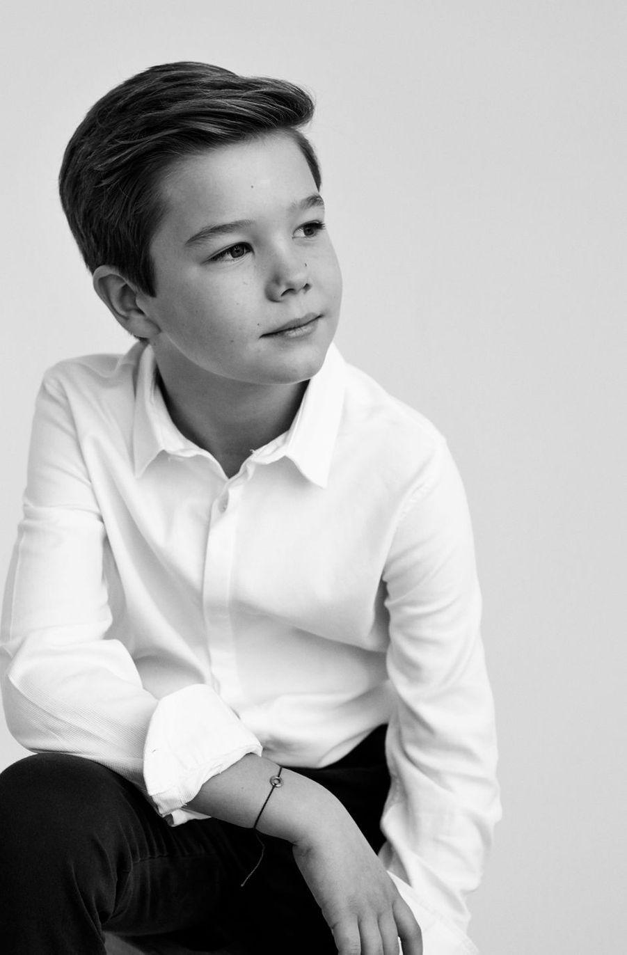 Le prince Vincent de Danemark. Portrait en noir et blanc diffusé le 8 janvier 2021 pour ses 10 ans