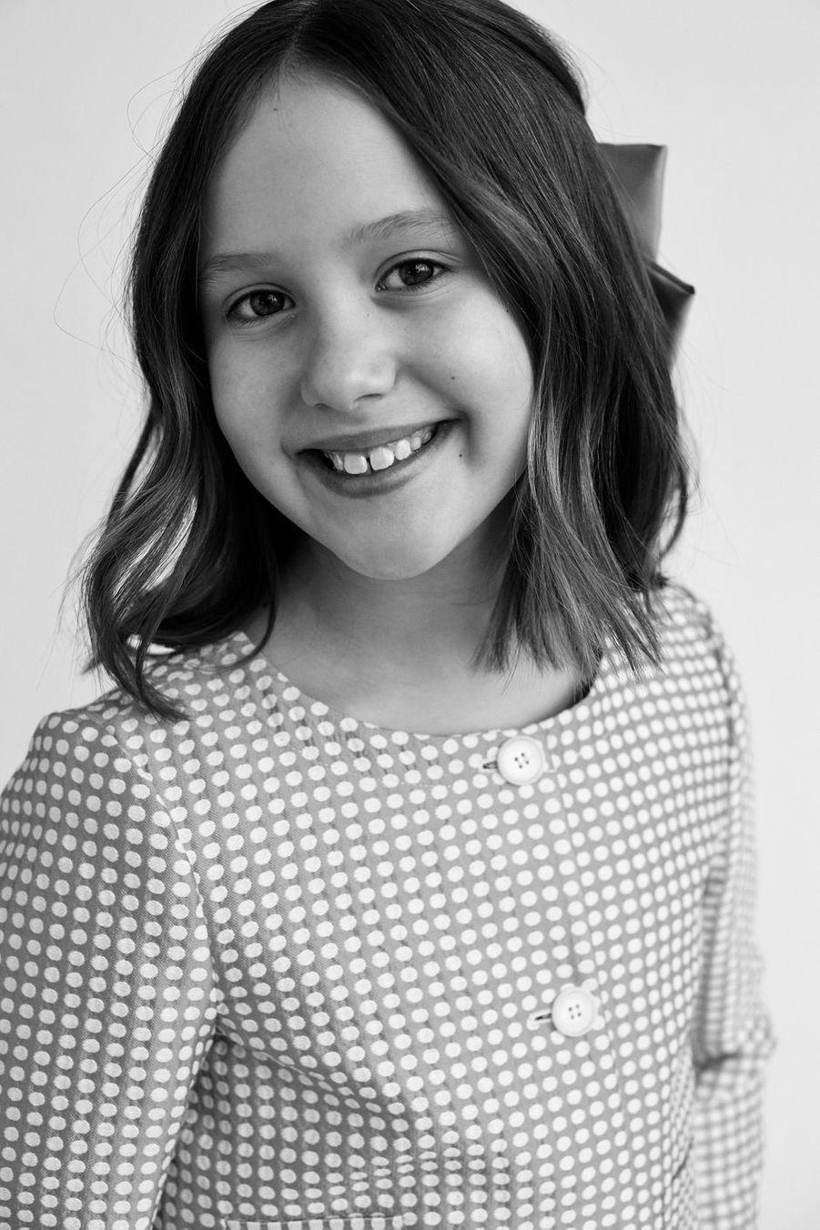 La princesse Josephine de Danemark. Portrait en noir et blanc diffusé le 8 janvier 2021 pour ses 10 ans