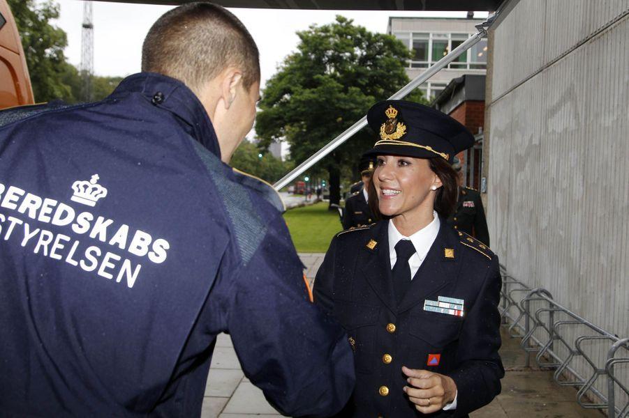 La princesse Marie de Danemark à la section chimique de la Beredskabsstyrelsen à Copenhague, le 7 septembre 2017
