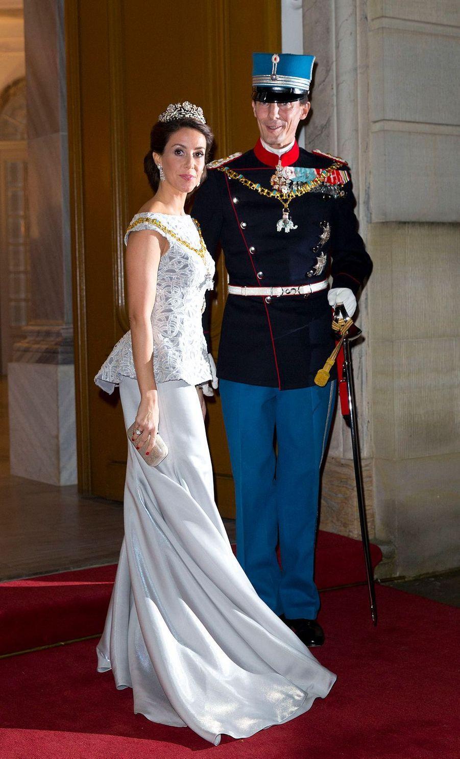 La princesse Marie de Danemark, le 1er janvier 2014