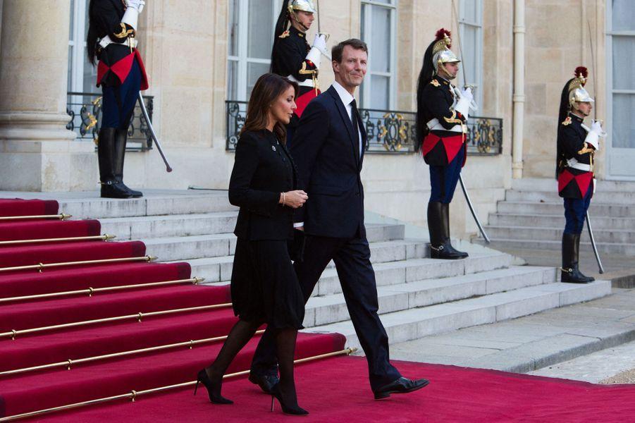 La princesse Marie de Danemark et le prince Joachim à l'Elysée à Paris, le 30 septembre 2019