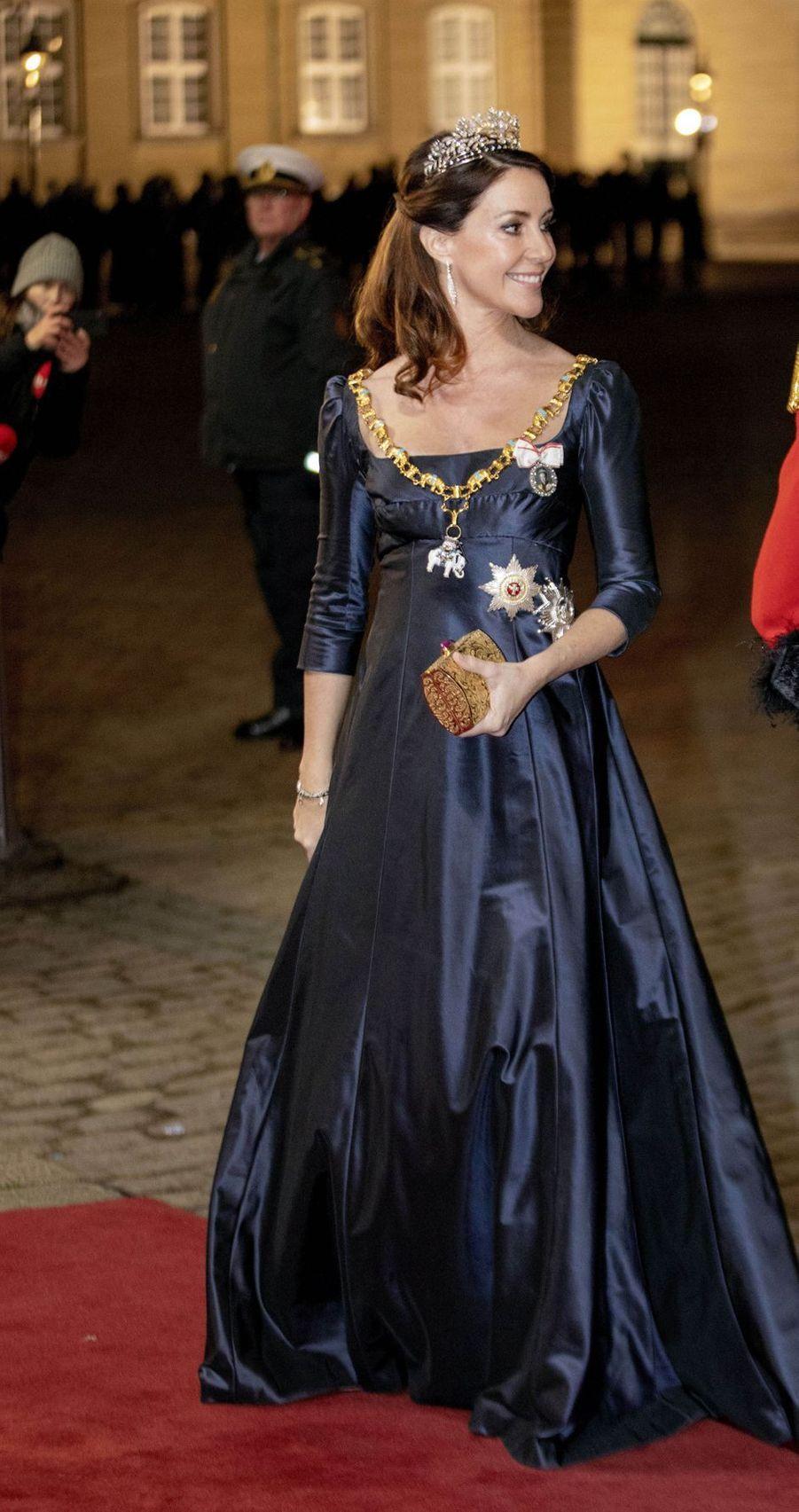 La princesse Marie de Danemark, le 1er janvier 2020