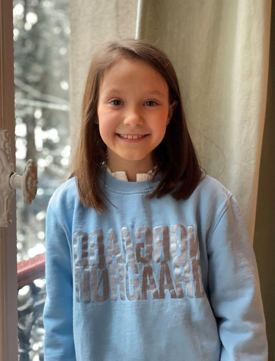 La princesse Athena de Danemark à Paris. Une des photos diffusées pour ses 9 ans, le 24 janvier 2021