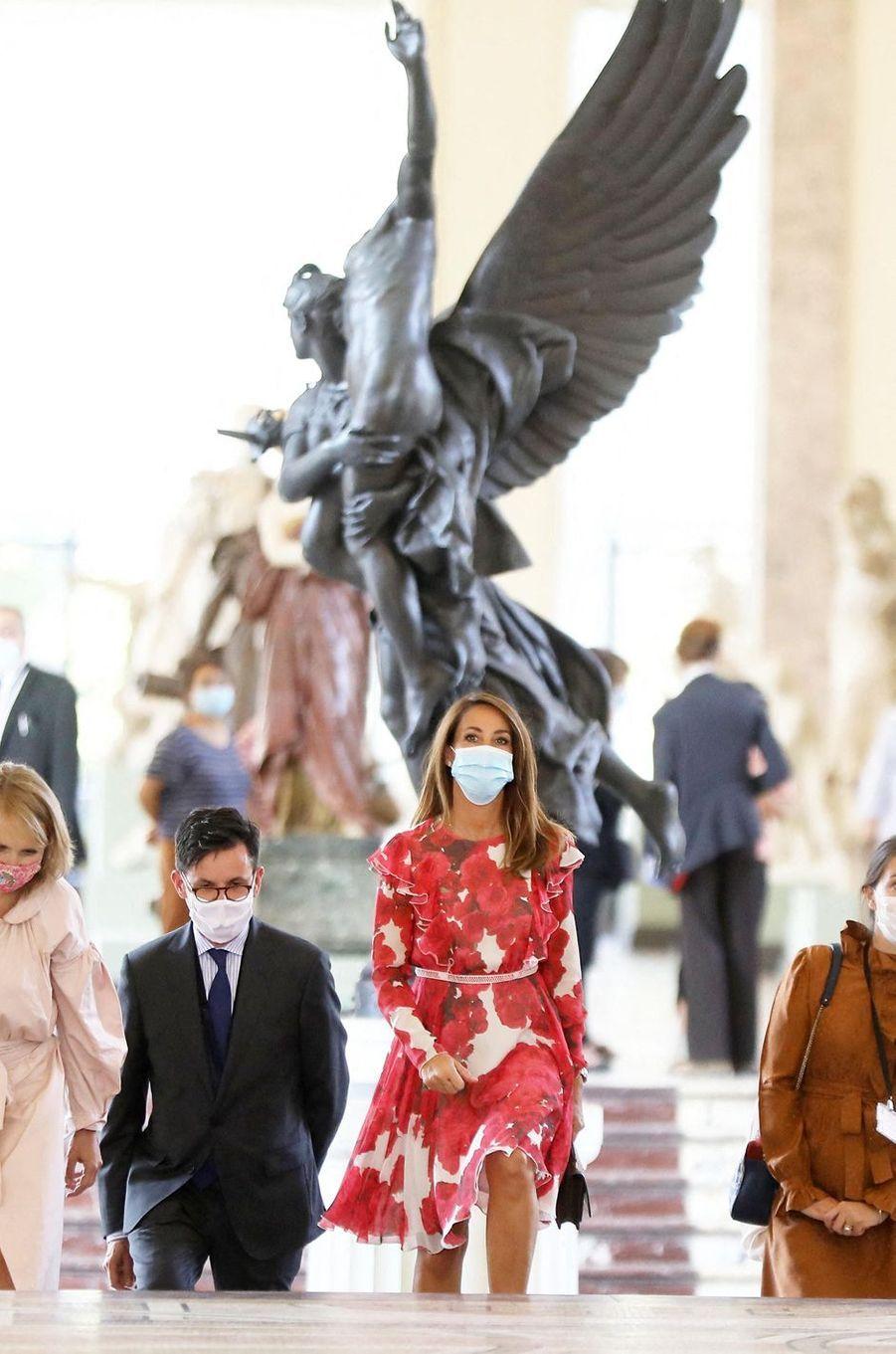 La princesse Marie de Danemark inaugure une exposition au Petit Palais à Paris, le 18 septembre 2020