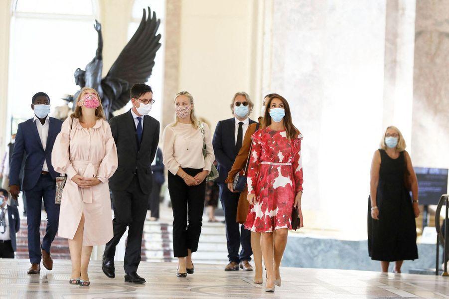 La princesse Marie de Danemark inaugure une exposition au Petit Palais, le 18 septembre 2020