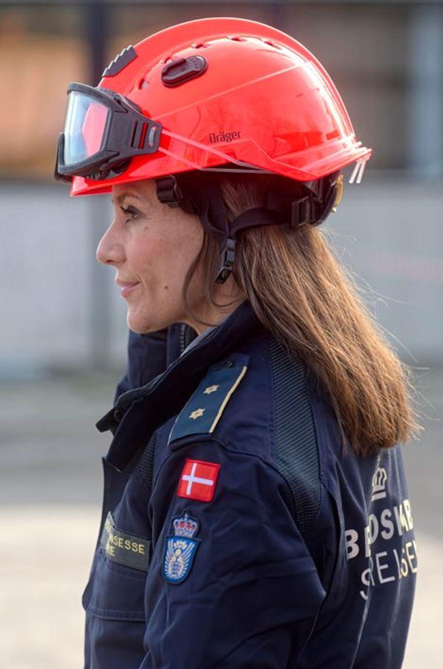 La princesse Marie de Danemark visite le Centre d'Intervention de la DEMA à Hedehusene, le 13 mars 2015