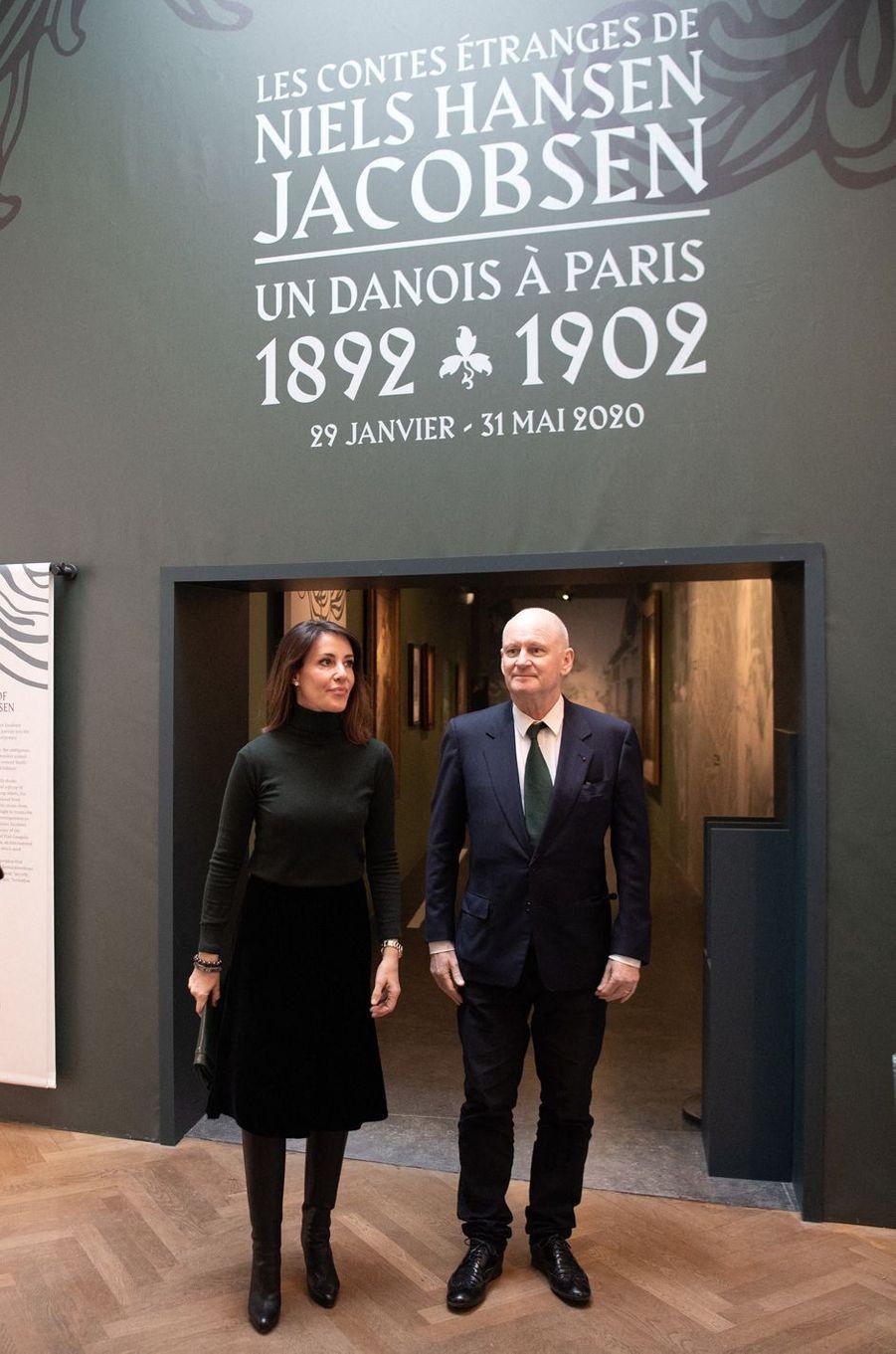 La princesse Marie de Danemark au vernissage de l'exposition Niels Hansen Jacobsen au musée Bourdelle à Paris, le 28 janvier 2020