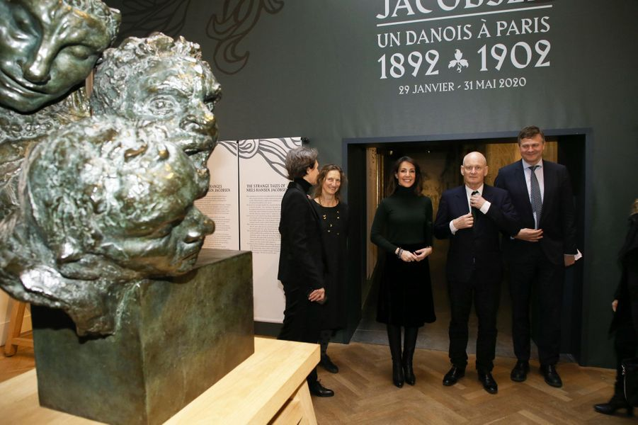 La princesse Marie de Danemark lors du vernissage de l'exposition Niels Hansen Jacobsen au musée Bourdelle à Paris, le 28 janvier 2020