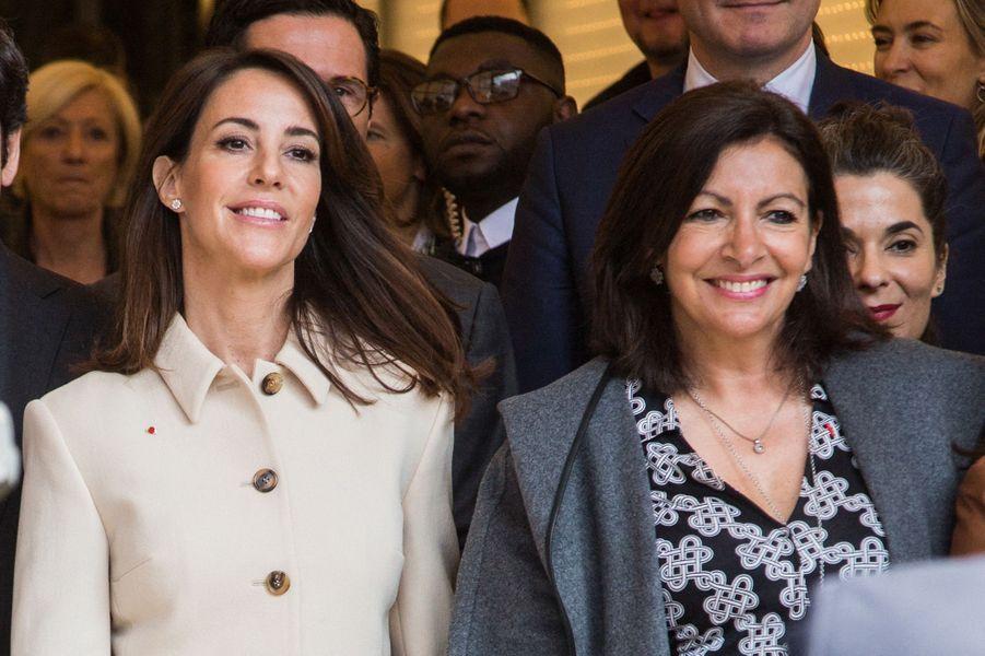 La princesse Marie de Danemark avec Anne Hidalgo à Paris, le 28 mars 2019