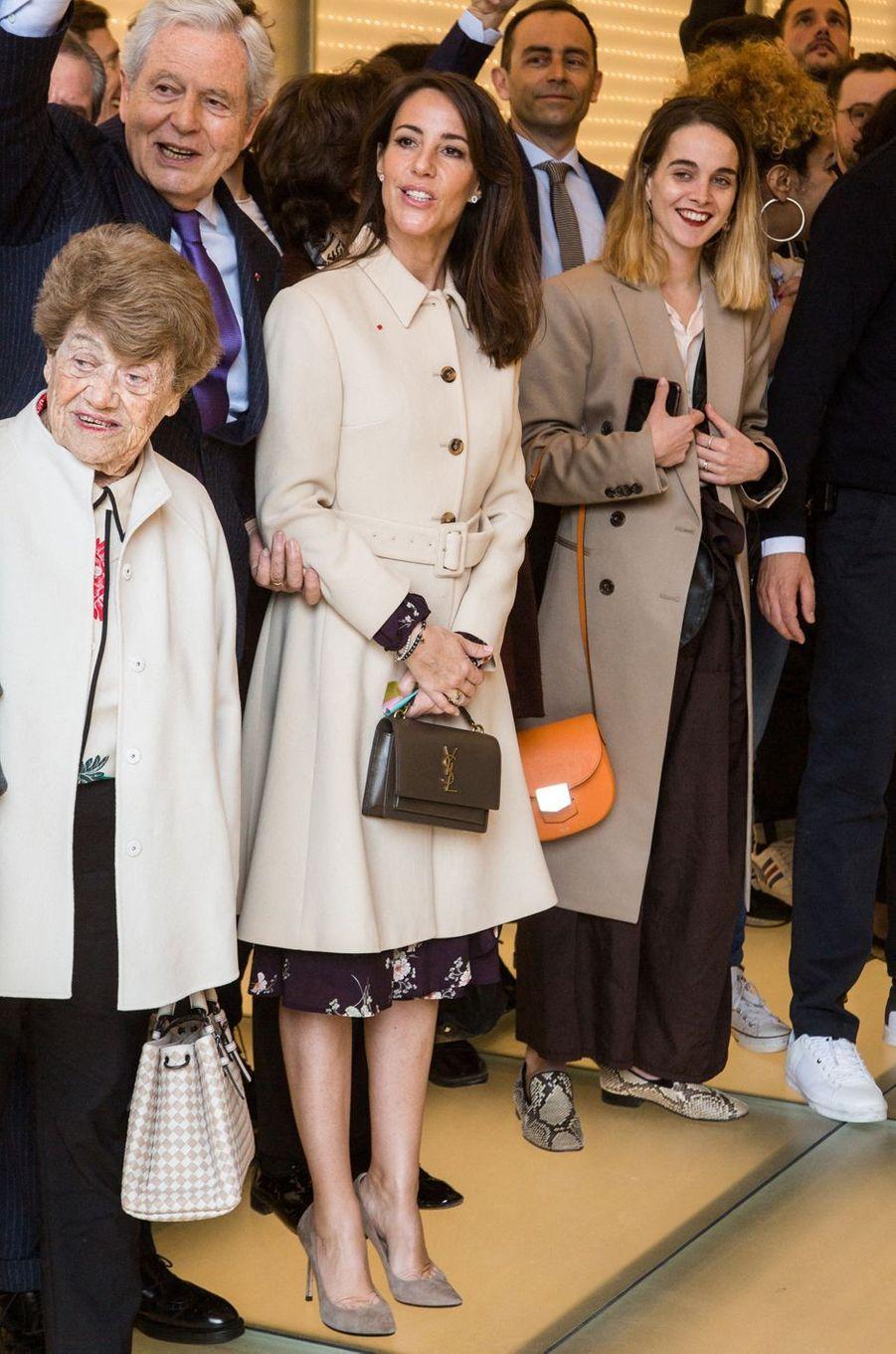 La princesse Marie de Danemark avec Philippe Houzé, président du directoire des Galeries Lafayette, à Paris le 28 mars 2019