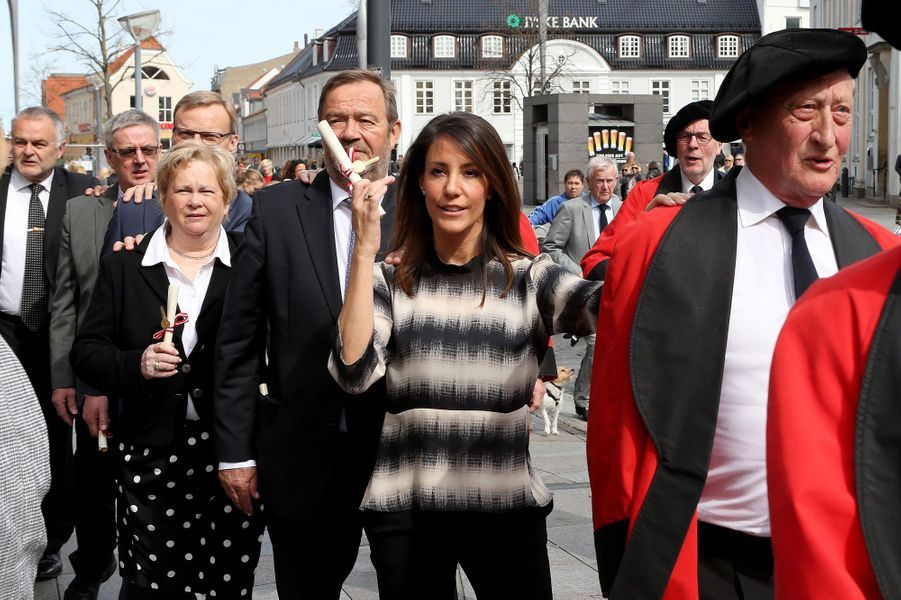 La princesse Marie de Danemark intronisée à la Guilde Christian IV à Aalborg, le 19 avril 2015