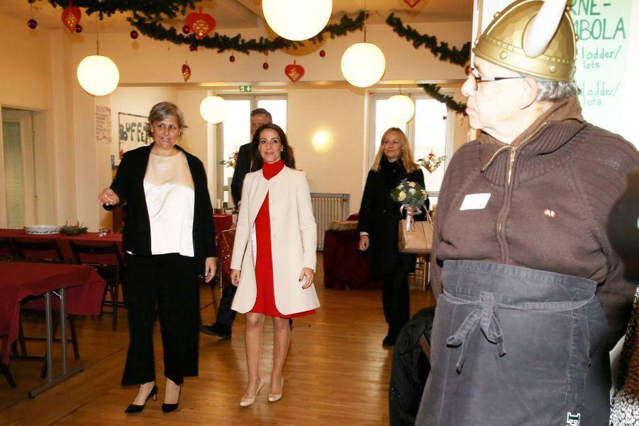 La princesse Marie de Danemark à l'Eglise danoise de Paris, le 29 novembre 2019