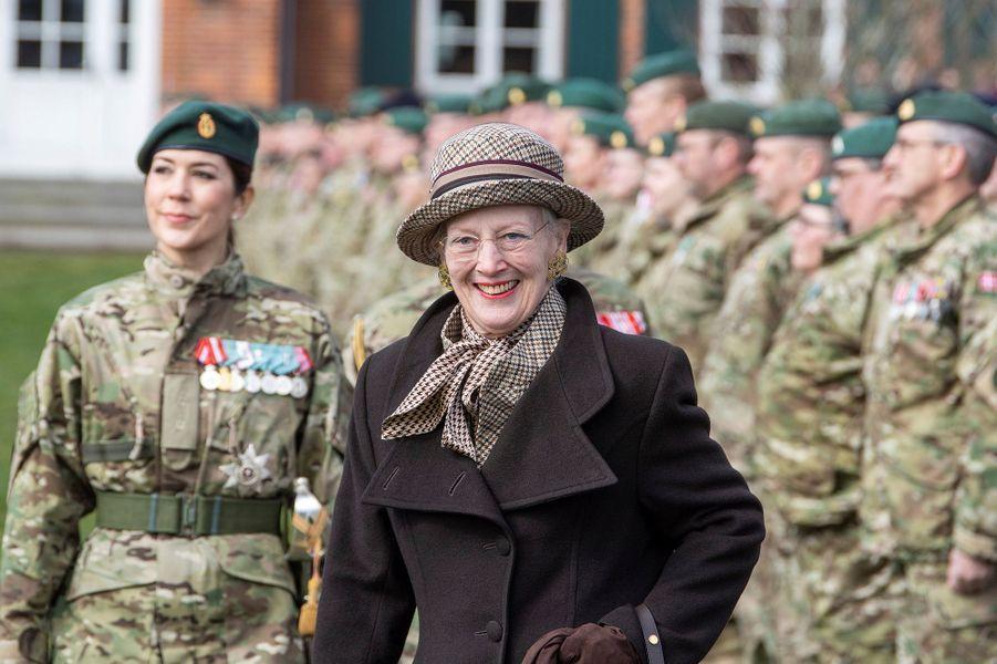 La reine Margrethe II et la princesse Mary de Danemark à Nymindegab, le 31 mars 2019