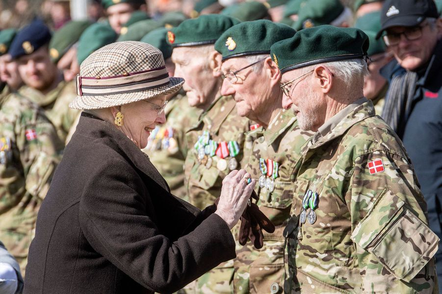 La reine Margrethe II de Danemark à Nymindegab, le 31 mars 2019