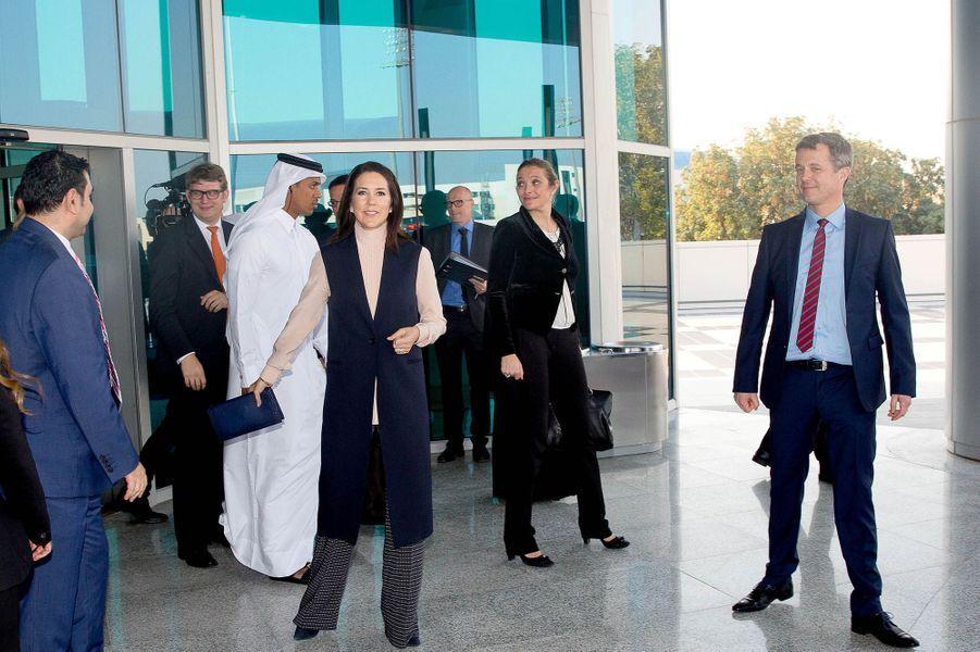 La princesse Mary et le prince Frederik de Danemark à Doha, le 2 mars 2016